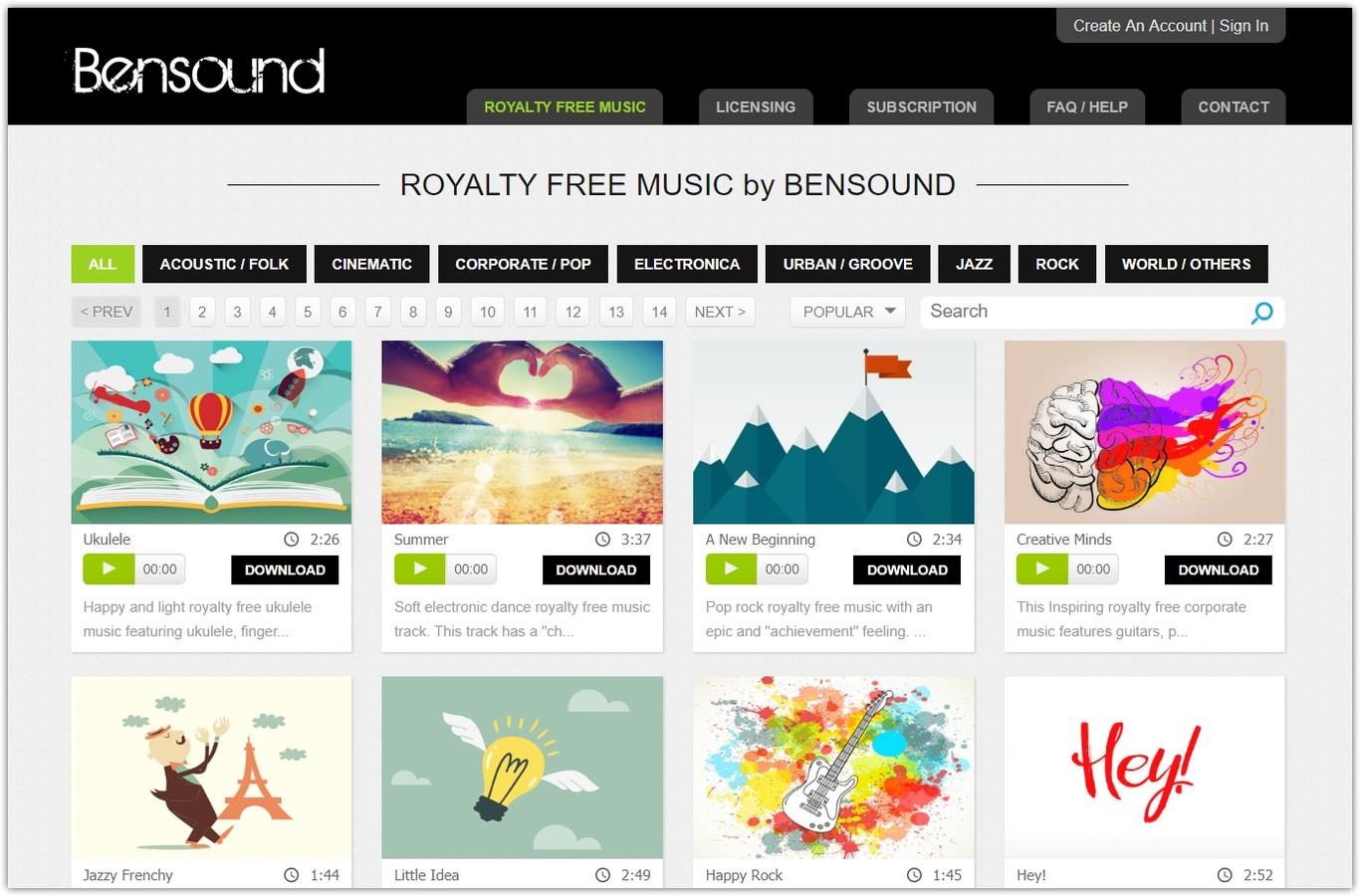 🎼 Música gratis que puedes usar libremente en tus vídeos de YouTube, sitios web, animaciones y presentaciones
