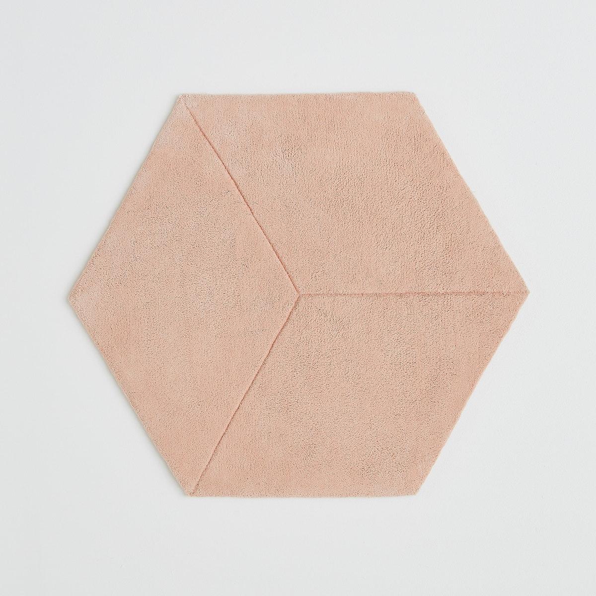 Alfombra rosa hexagonal