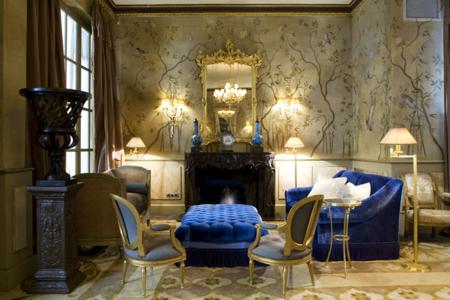 Los trampantojos y la pintura decorativa de Carol Moreno en el Hotel Palace de Barcelona