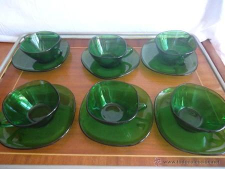 Vajilla Vintage Verde