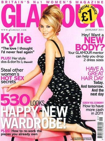 Kylie euroahorra: el mismo modelito para una portada y para la tele