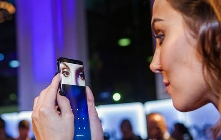 Lector de iris del Galaxy S8.