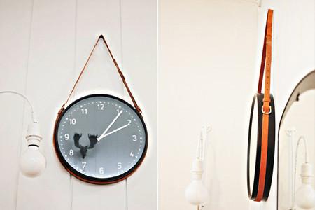 Una buena idea: cuelga un reloj de pared usando cinturones