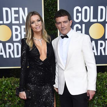 Antonio Banderas, acompañado de Nicole Kimpel, pone el sabor español en los Globos de Oro 2020
