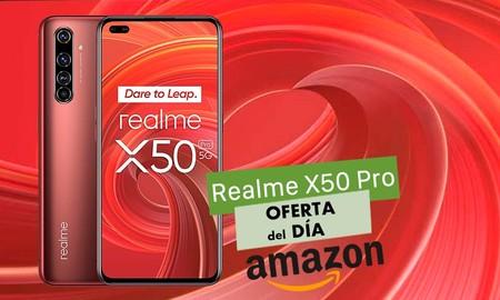 Hoy en Amazon, el Realme X50 Pro vuelve a ser un chollo: 120 euros menos si lo eliges en color rojo