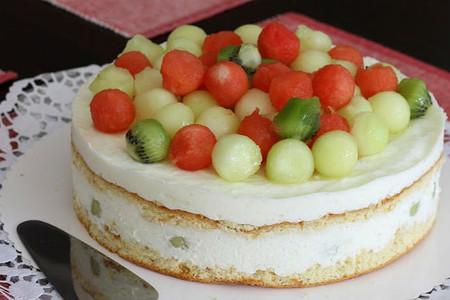 Tarta helada de melón y yogur. Intercultura y Cocina