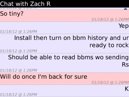 Peep It te deja leer mensajes del BBM sin que la otra persona se entere que lo leiste