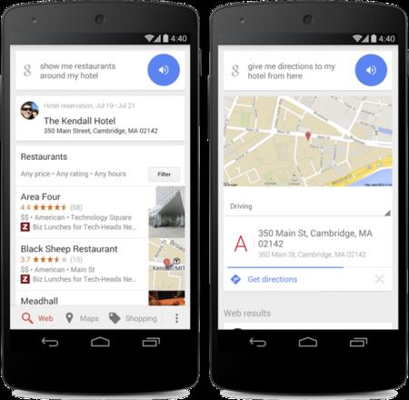 Google Now sabe en qué hotel estás