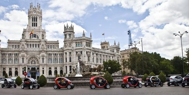 Caravana de Renault Twizy en Madrid