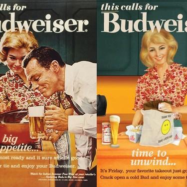 Budweiser rectifica y actualiza sus carteles publicitarios sexistas de los años 50 y 60 apostando por la igualdad