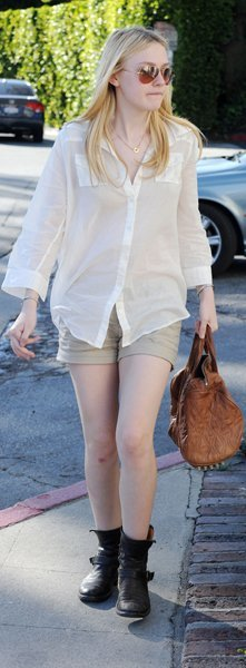 Dakota Fanning shorts