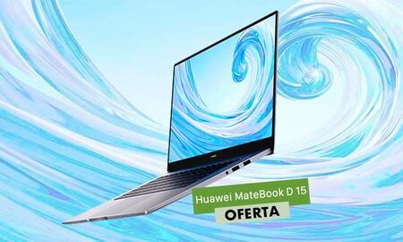Este ligero y potente portátil MateBook D15 con procesador Ryzen 7 cuesta casi 150 euros menos en los Días sin IVA de Huawei