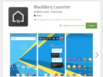 La suite de aplicaciones de BlackBerry Priv aparece en Google Play