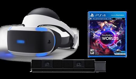Gafas Playstation Vr Camara Juego Vr Worlds Para Ps4 Por Solo