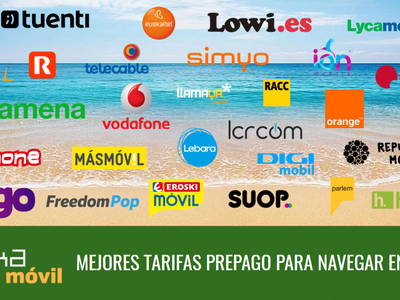 Las mejores tarifas prepago para navegar en verano de 2017 si pasas tus vacaciones en España