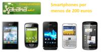 Elige tu smartphone libre o prepago por menos de 200 euros