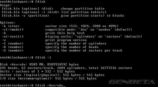 Slackware 14 particiones con fdisk