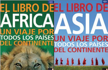 """""""El libro de África"""" y """"El libro de Asia"""", de Lonely Planet"""