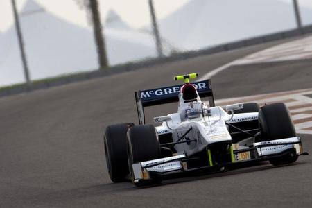 Giedo van der Garde, el más rápido el segundo día de pruebas de la GP2 en Abu Dhabi