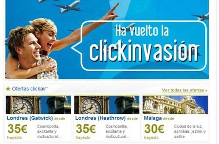 Clickair lanza un millón de plazas de avión en oferta