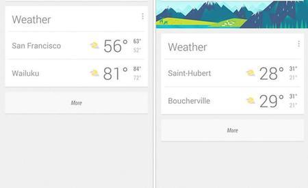Google Now ahora muestra temperaturas máximas y mínimas