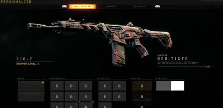Black Ops 4 Tigre Rojo Camuflaje