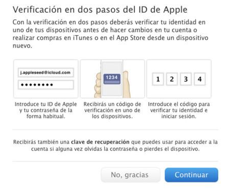 Apple activa la verificación de dos pasos en España y cinco países más