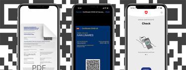 Certificado COVID en el iPhone: comparativa para entender qué sistema es más seguro y cómodo para obtener y gestionar nuestro certificado