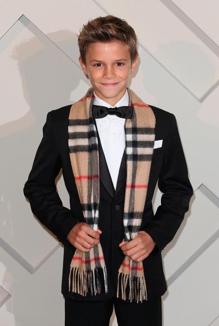 Romeo Beckham es la nueva estrella de la campaña de Navidad de Burberry
