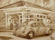 Autos con arte. Gasolinera