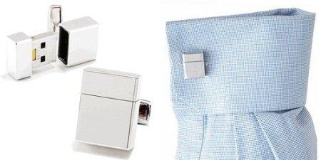 Gemelos y memoria USB, dos en uno