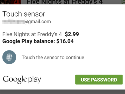 La Play Store permitirá pagar usando la huella dactilar