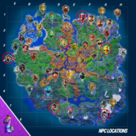 Mapa Personajes Armas