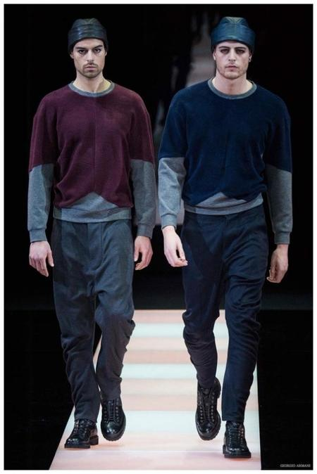 Giorgio Armani Menswear Fall Winter 2015 Collection Milan Fashion Week 027