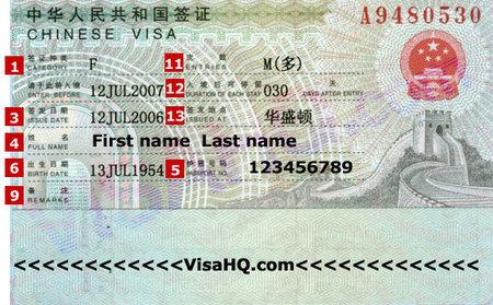 Visado para viajar a China