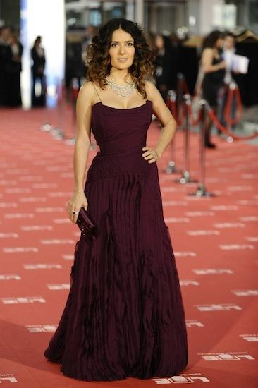 Salma Hayek de Gucci en los premios Goya 2012