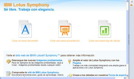 Nueva versión de Lotus Symphony