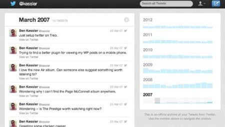La descarga de todos los tweets publicados empieza a estar disponible para algunos usuarios