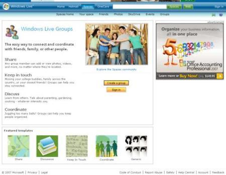 Windows Live Groups será lanzado el 17 de noviembre