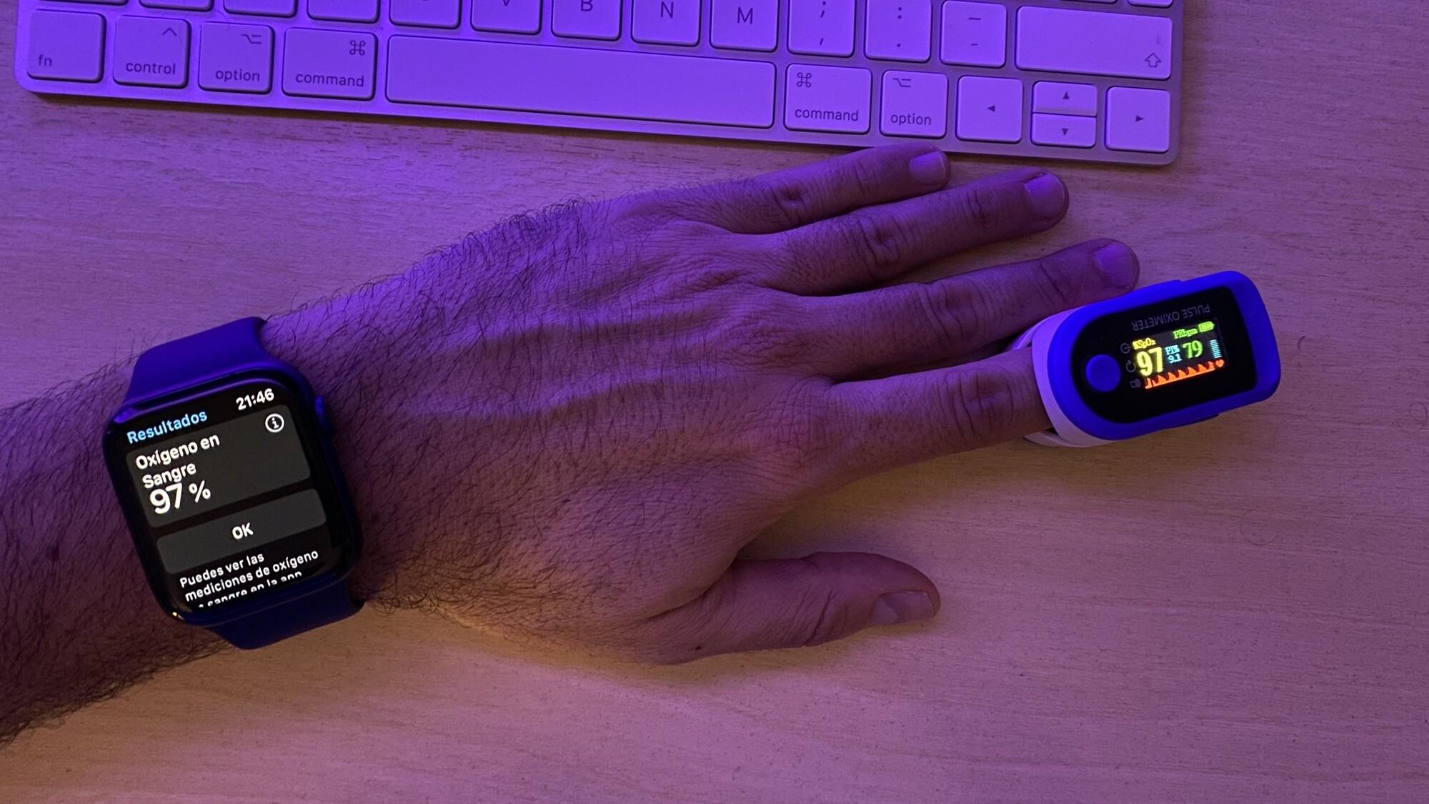 Foto de Mediciones simultáneas SpO2 con Apple Watch Series 6 y pulsioxímetro de dedo (8/12)