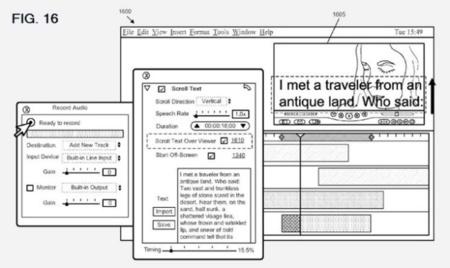 Una patente muestra un posible sistema de Teleprompter para iMovie y Final Cut