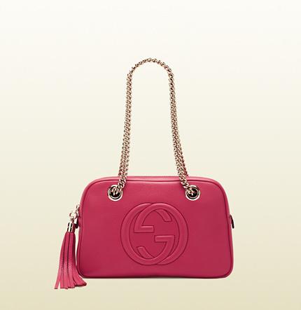 Gucci Bolso de asa larga rosa estridente