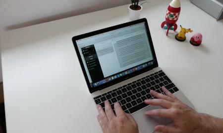 usando el macbook 2015
