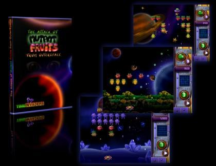 The Attack of Mutant Fruits from Outer Space, arcade para Mac