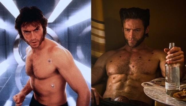 Hugh Jackman en X-Men (2000) y X-Men: Días del Futuro Pasado (2014)