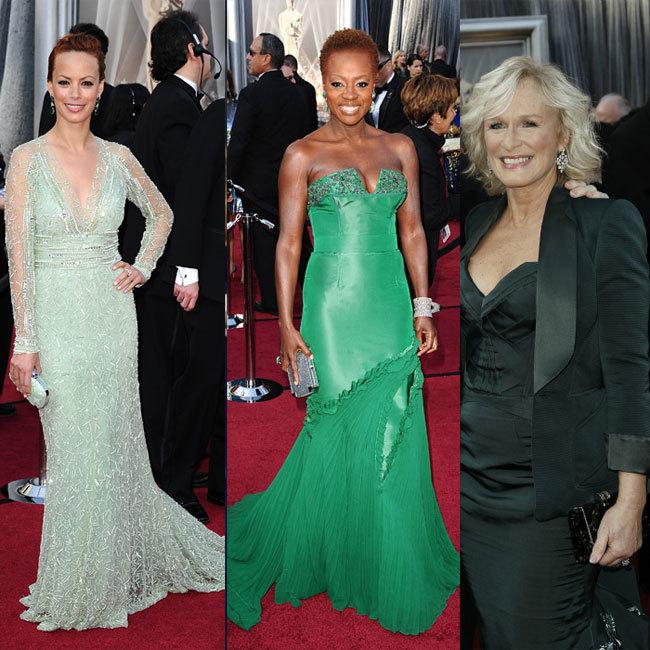 Vestidos verdes Oscar 2012