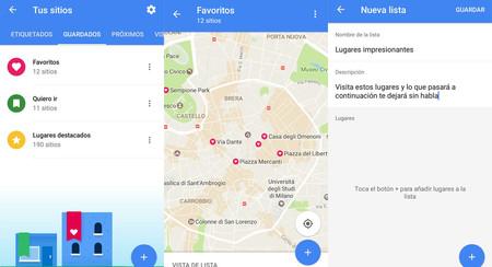 Las listas de lugares en Google Maps, más cerca de estar disponibles para todos