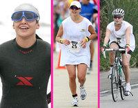 Jennifer Lopez terminó el triatlón