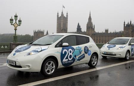 Trayectos de taxi gratis a bordo de un Nissan Leaf en Londres