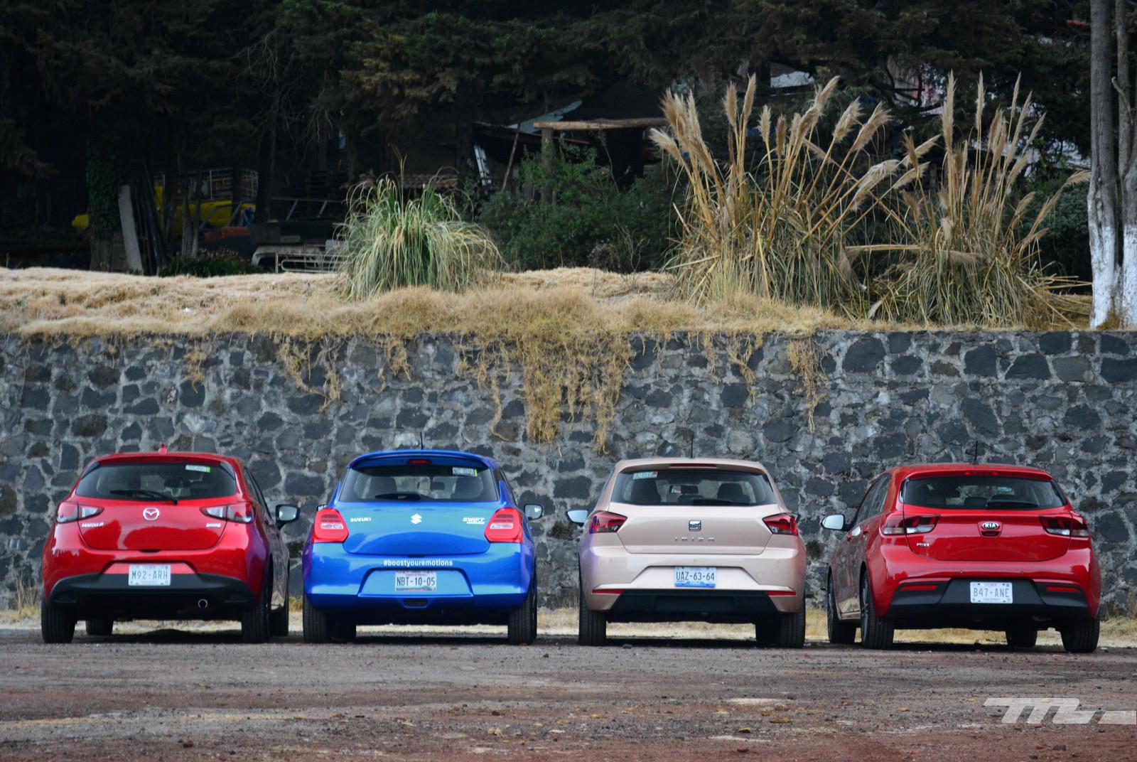 Foto de SEAT Ibiza vs. Suzuki Swift vs. KIA Rio vs. Mazda2 (comparativa) (4/20)